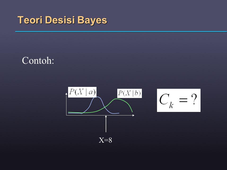 Teori Desisi Bayes Contoh: X=8