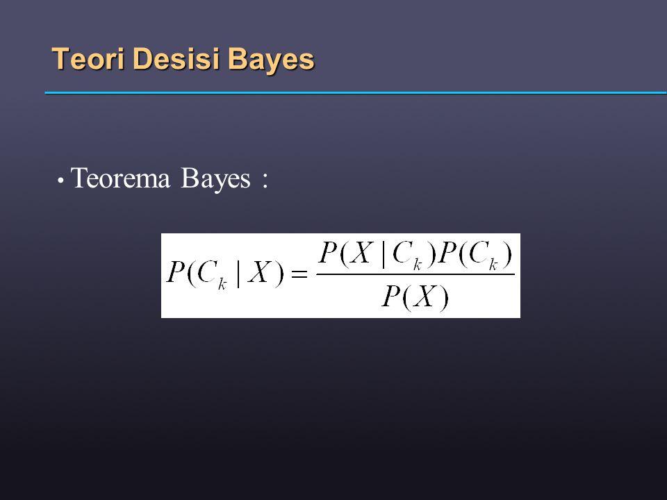 Teori Desisi Bayes Teorema Bayes :