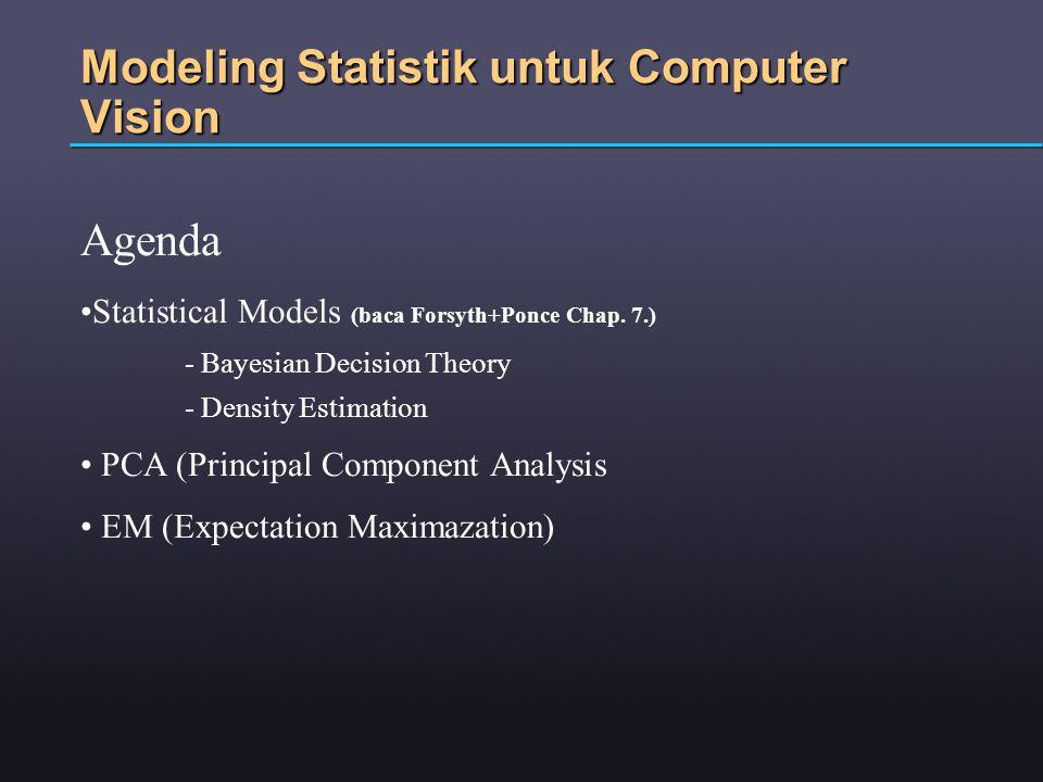 Modeling Statistik untuk Computer Vision