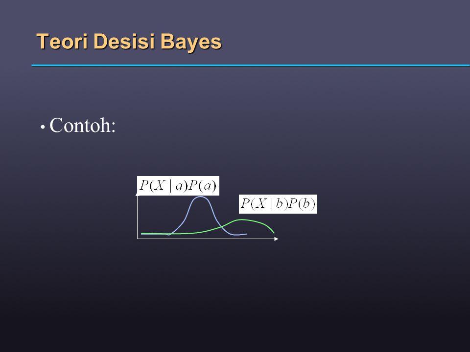 Teori Desisi Bayes Contoh: