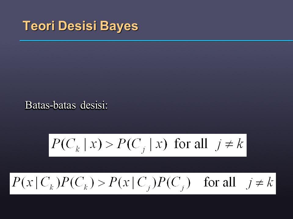Teori Desisi Bayes Batas-batas desisi: