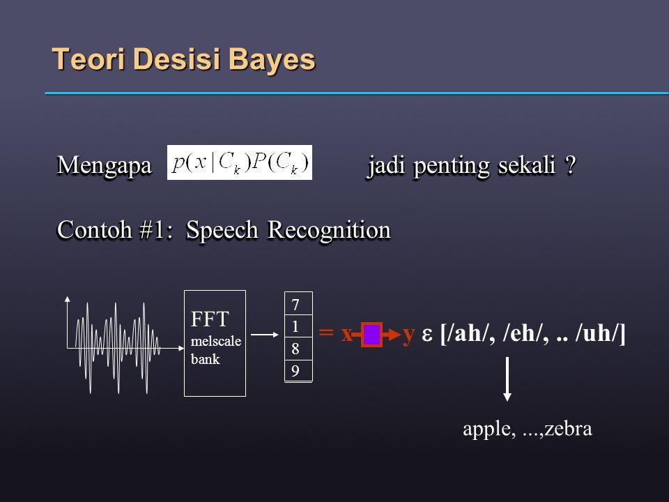 Teori Desisi Bayes Mengapa jadi penting sekali