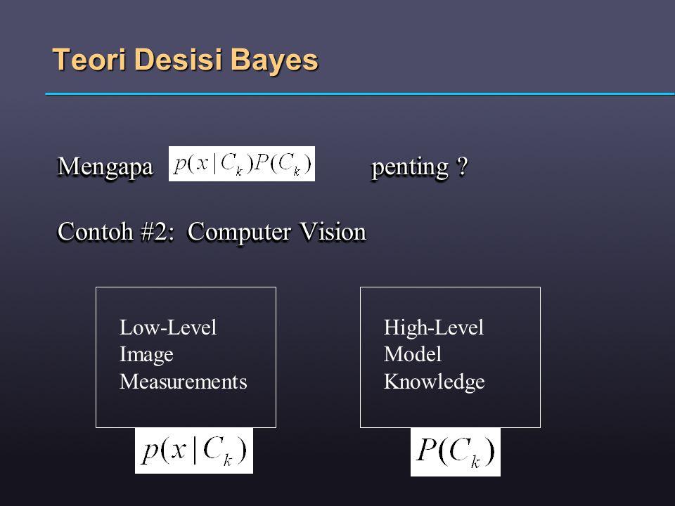 Teori Desisi Bayes Mengapa penting Contoh #2: Computer Vision