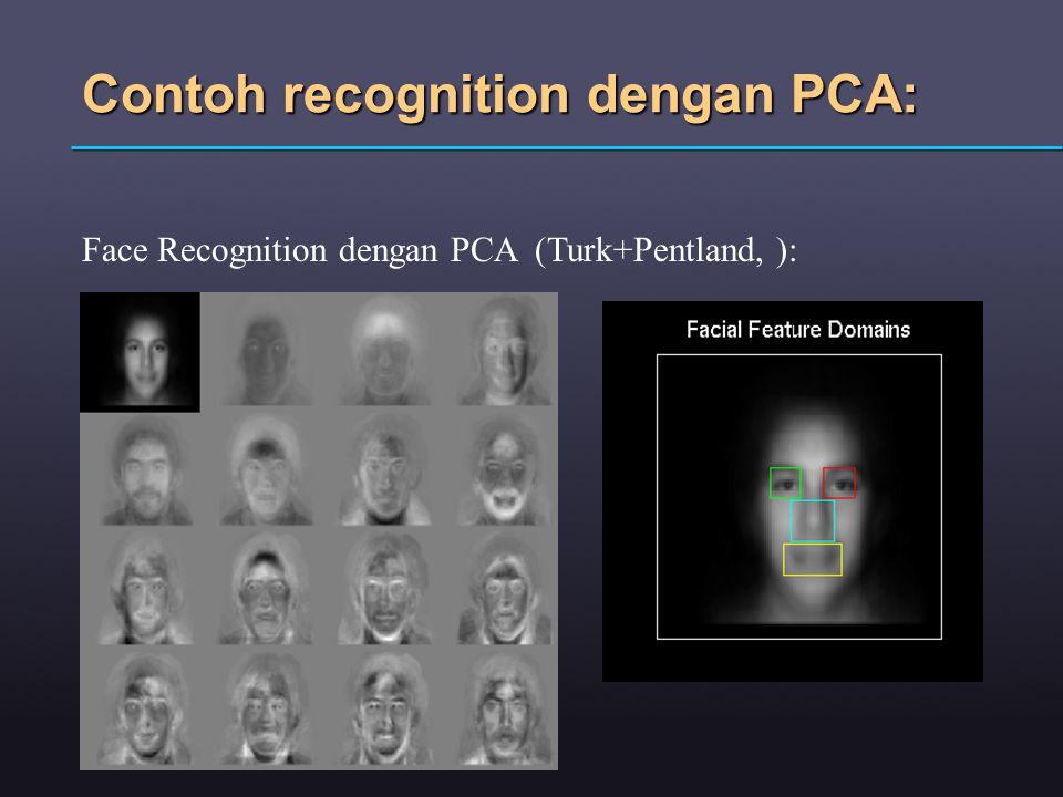 Contoh recognition dengan PCA: