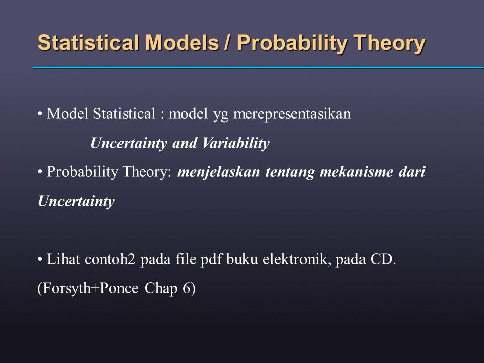 Statistical Models / Probability Theory