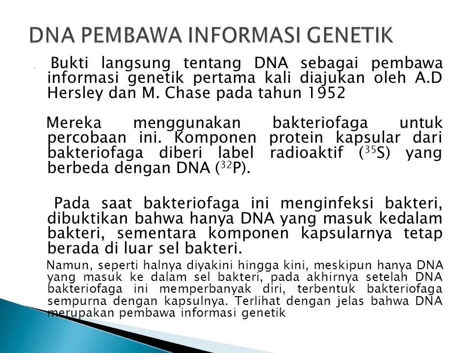 DNA PEMBAWA INFORMASI GENETIK