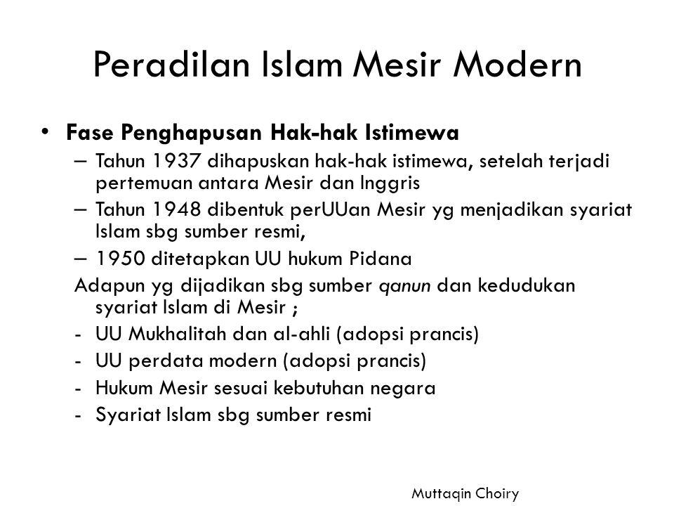 Peradilan Islam Mesir Modern
