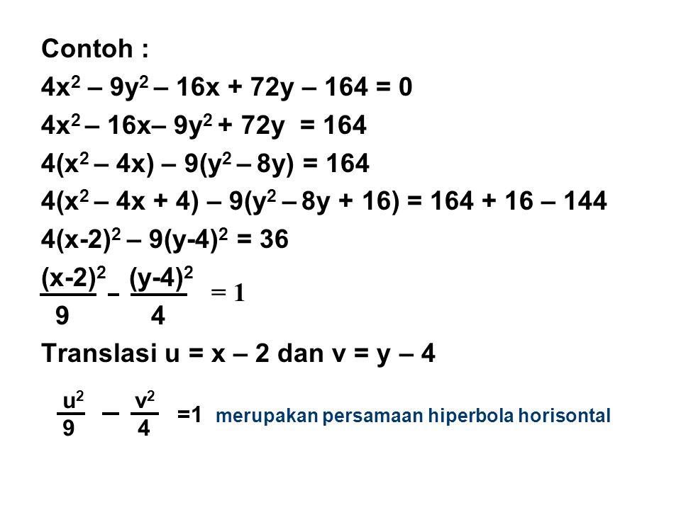 Translasi u = x – 2 dan v = y – 4