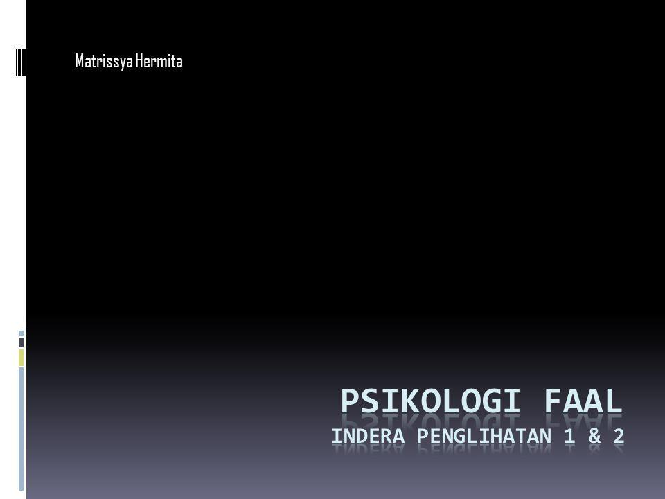Psikologi faal Indera penglihatan 1 & 2