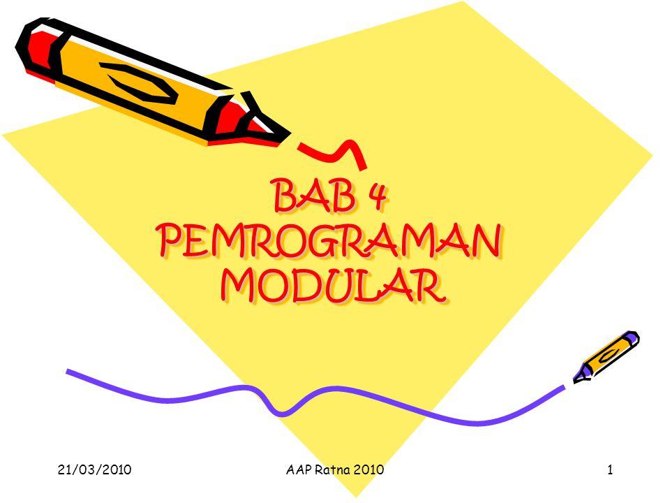 BAB 4 PEMROGRAMAN MODULAR