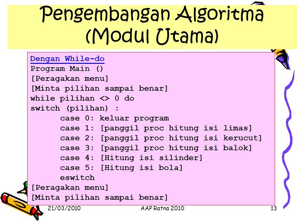 Pengembangan Algoritma (Modul Utama)