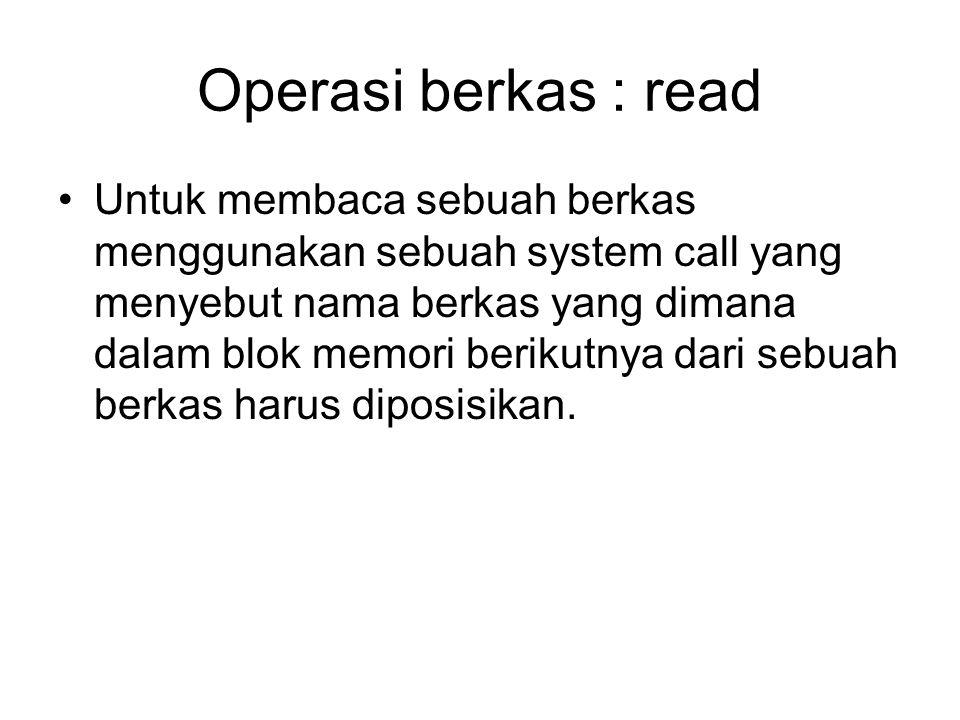 Operasi berkas : read