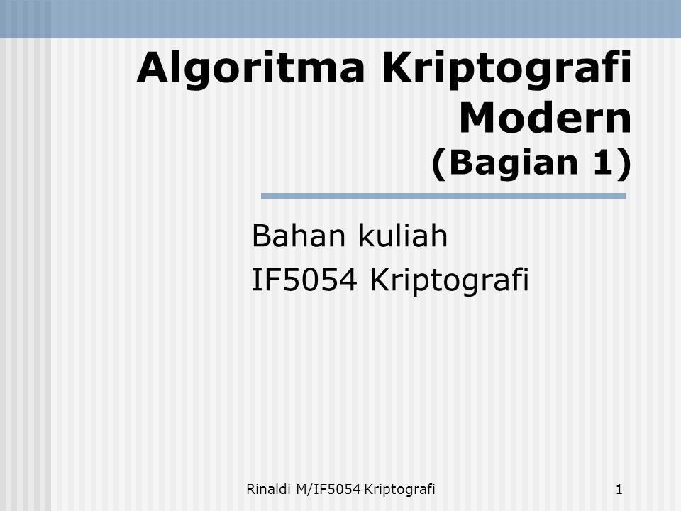 Algoritma Kriptografi Modern (Bagian 1)
