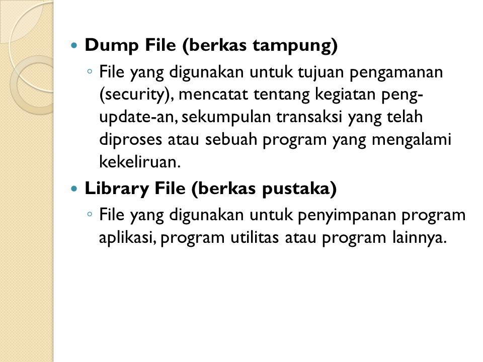 Dump File (berkas tampung)