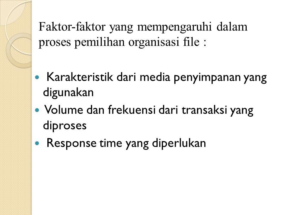 Faktor-faktor yang mempengaruhi dalam proses pemilihan organisasi file :