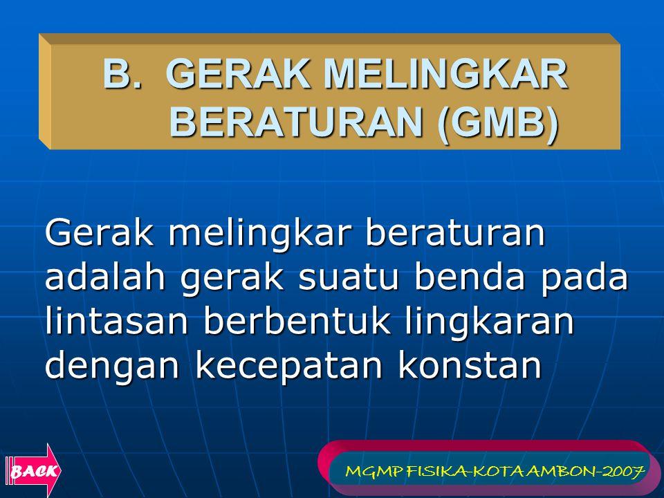 B. GERAK MELINGKAR BERATURAN (GMB)