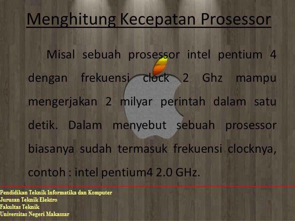 Menghitung Kecepatan Prosessor