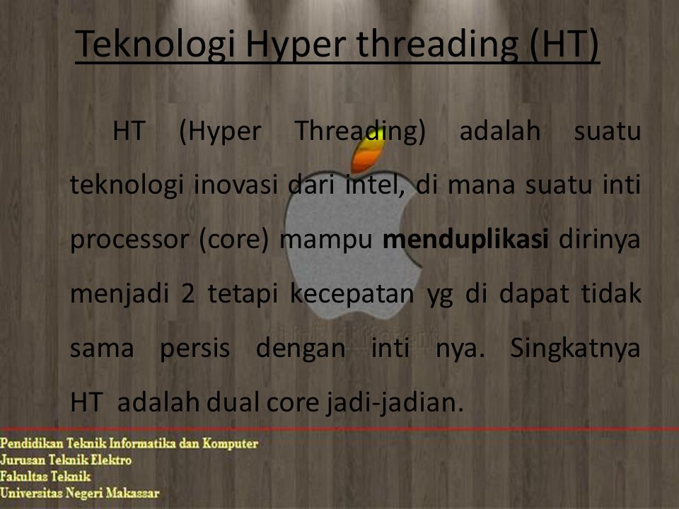 Teknologi Hyper threading (HT)