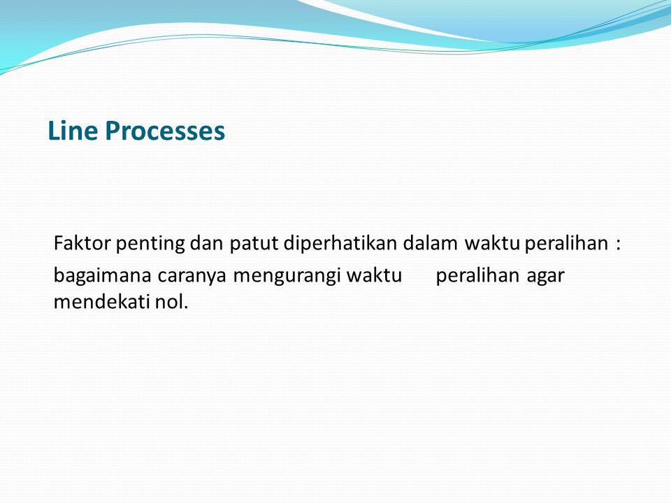 Line Processes Faktor penting dan patut diperhatikan dalam waktu peralihan : bagaimana caranya mengurangi waktu peralihan agar mendekati nol.