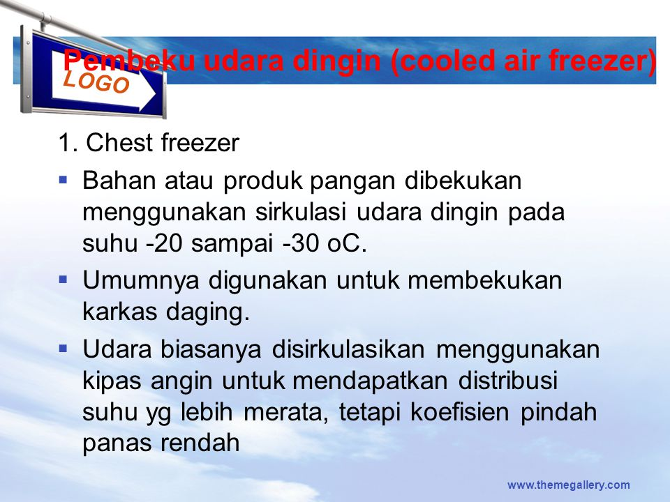 Pembeku udara dingin (cooled air freezer)