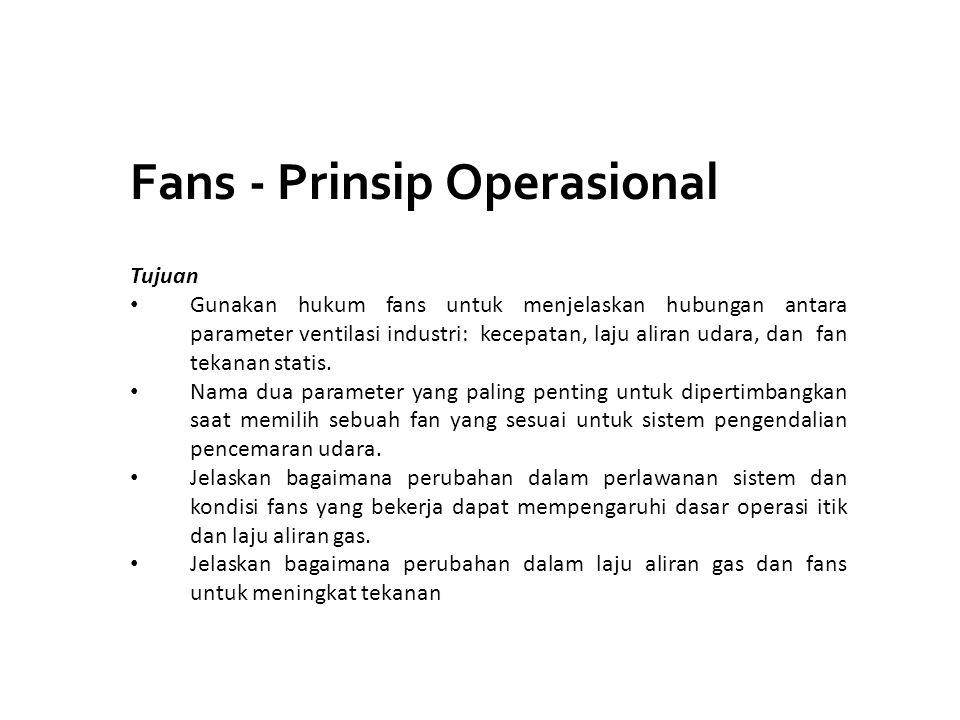 Fans - Prinsip Operasional