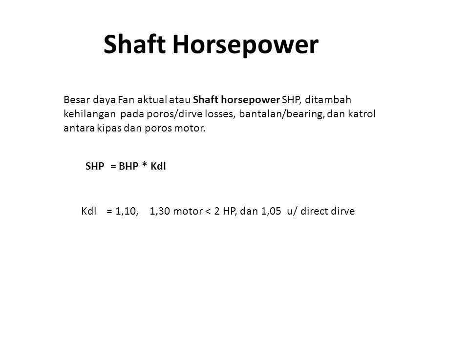 Shaft Horsepower