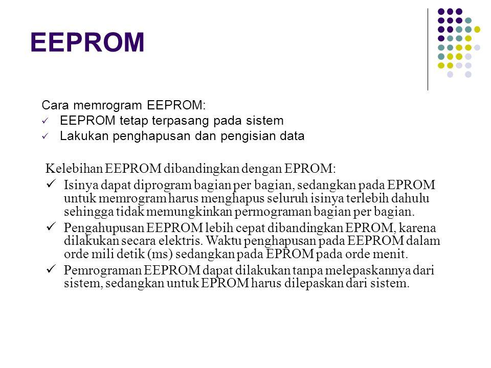 EEPROM Kelebihan EEPROM dibandingkan dengan EPROM: