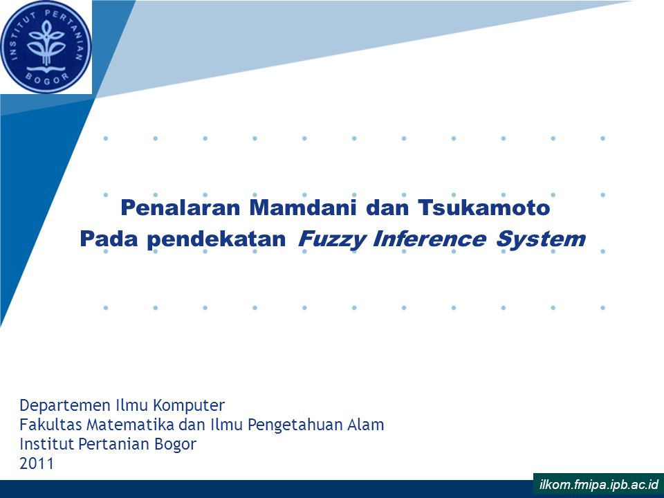 Penalaran Mamdani dan Tsukamoto Pada pendekatan Fuzzy Inference System