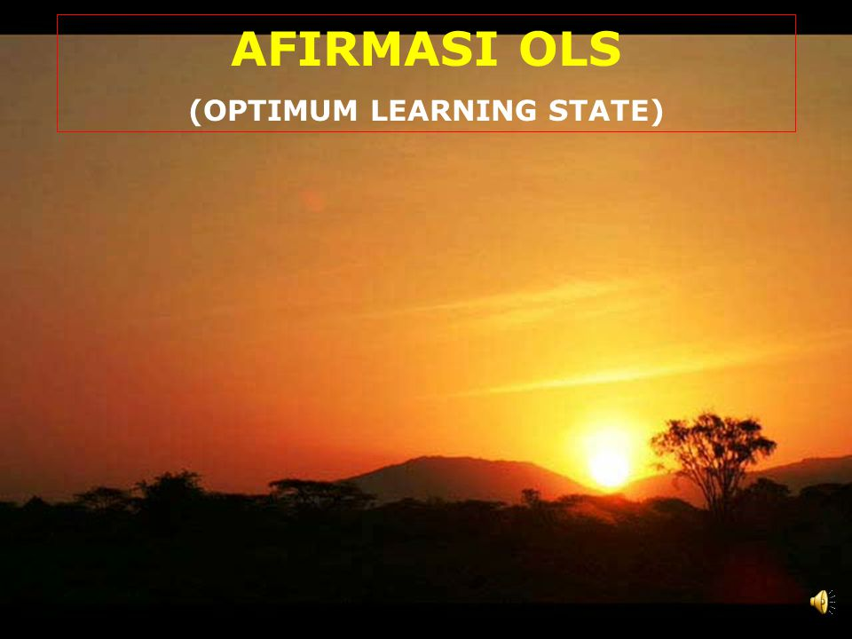 (OPTIMUM LEARNING STATE)