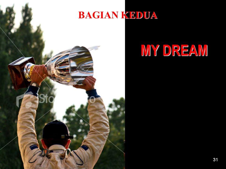 BAGIAN KEDUA MY DREAM