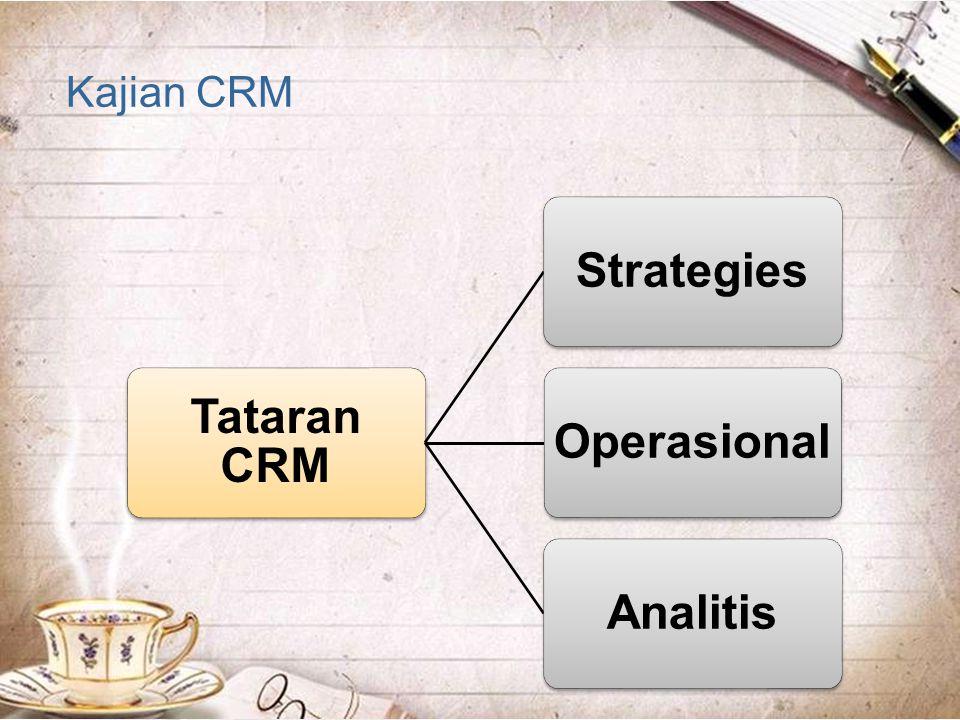 Kajian CRM Tataran CRM Strategies Operasional Analitis