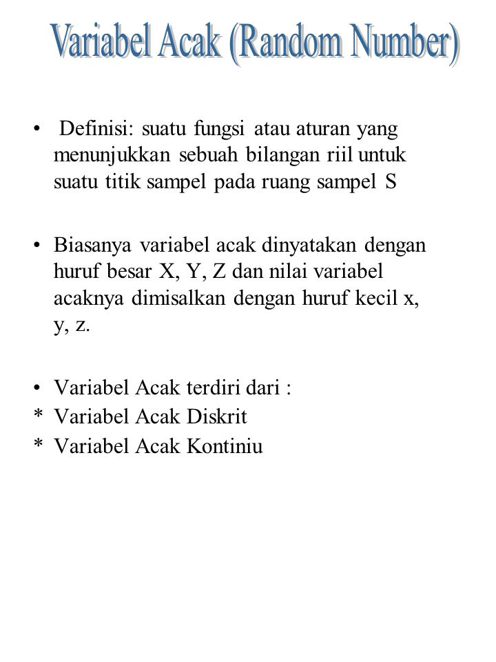 Variabel Acak (Random Number)