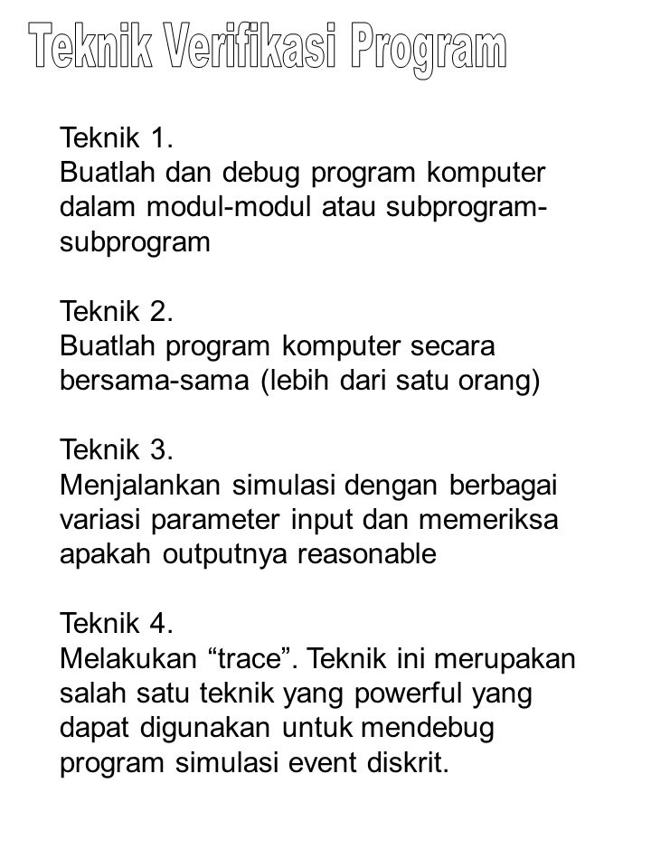Teknik Verifikasi Program