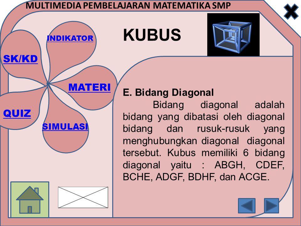 E. Bidang Diagonal