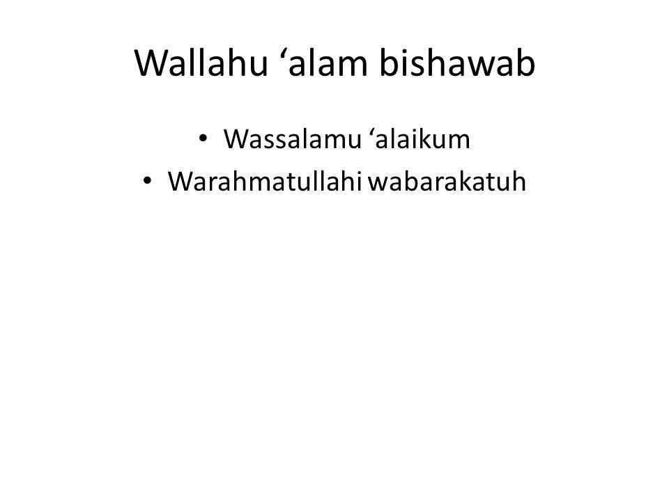 Wallahu 'alam bishawab