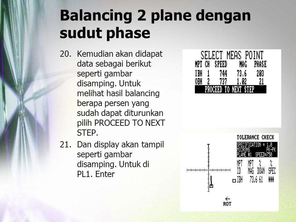 Balancing 2 plane dengan sudut phase