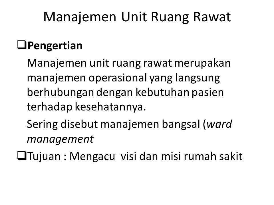Manajemen Unit Ruang Rawat