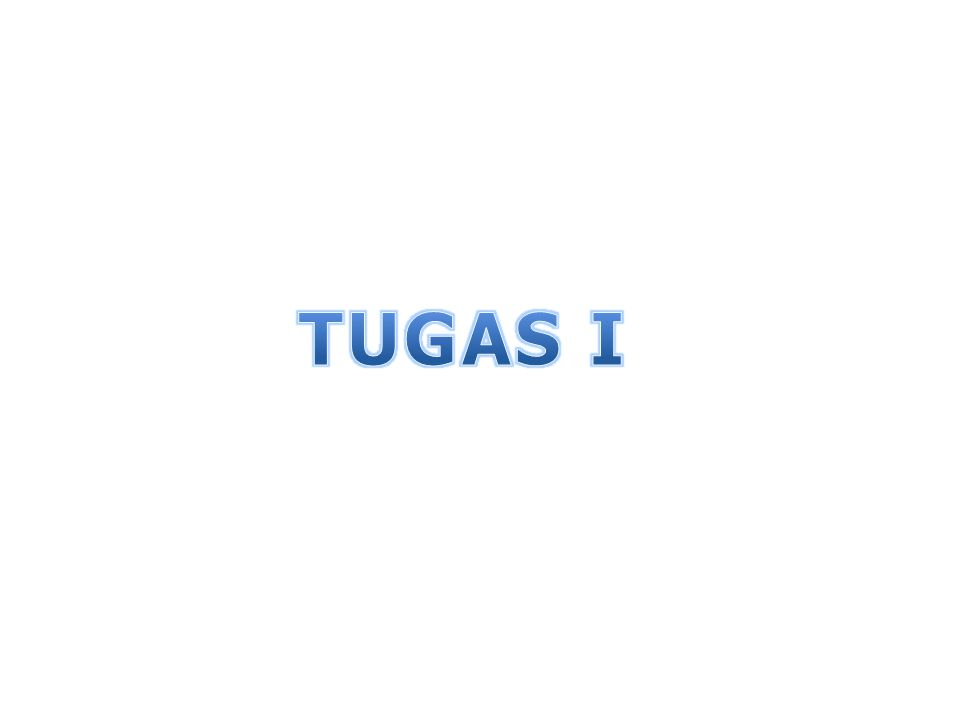TUGAS I