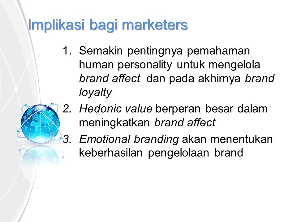Implikasi bagi marketers