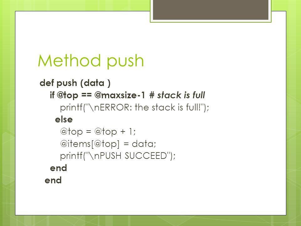 Method push
