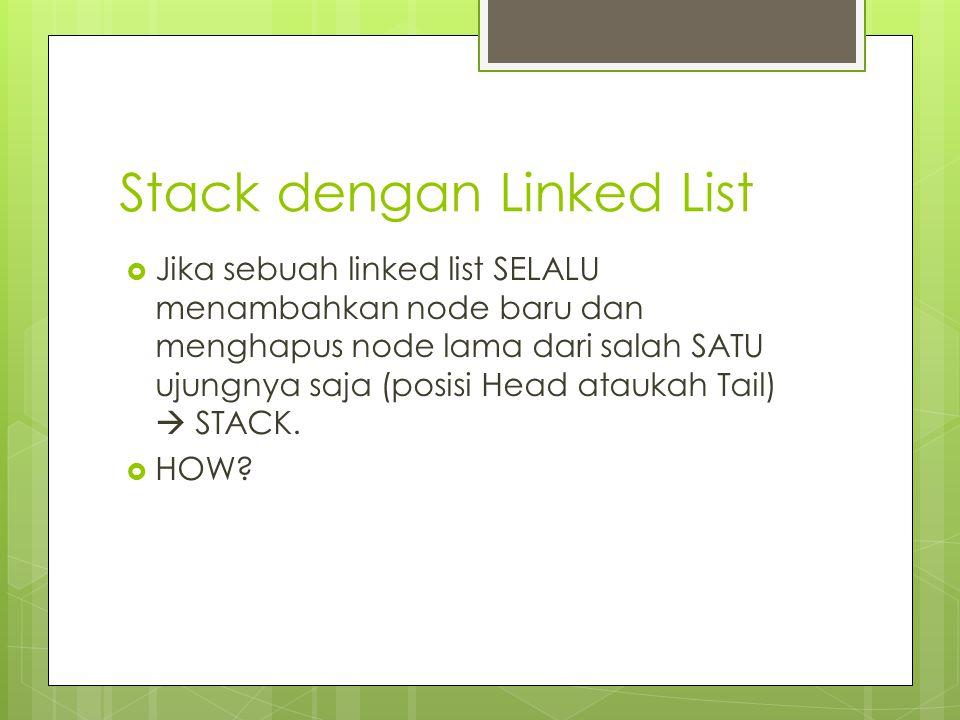 Stack dengan Linked List