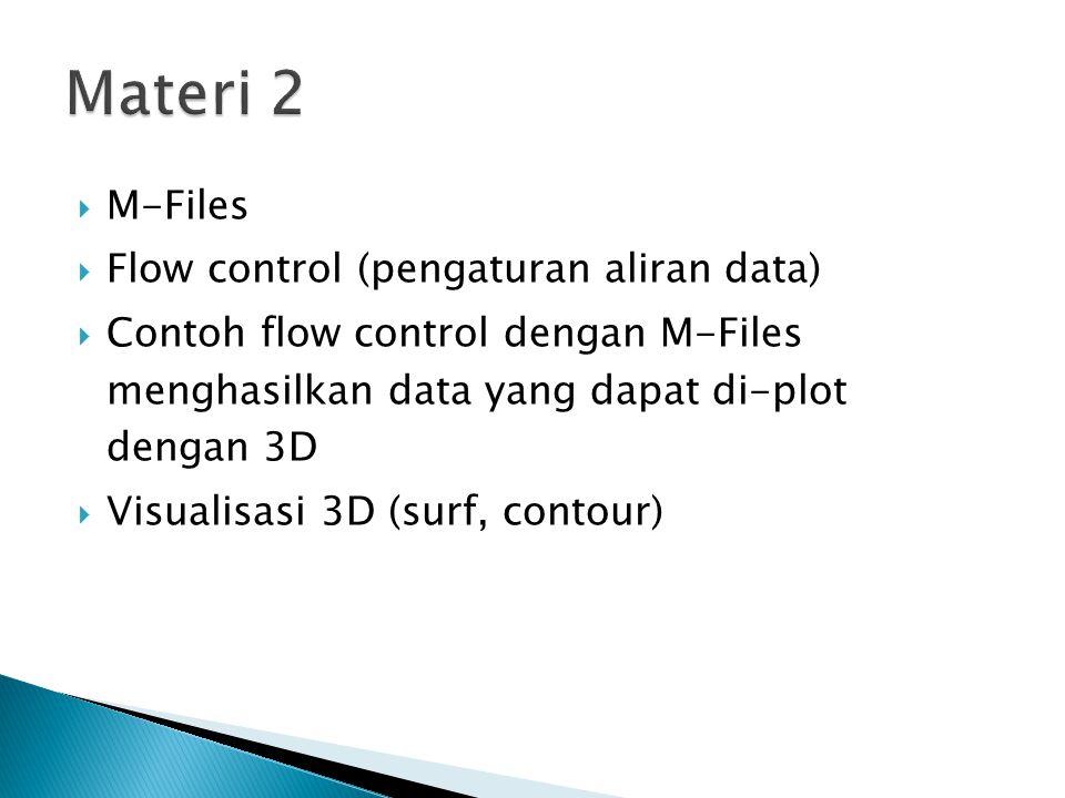 Materi 2 M-Files Flow control (pengaturan aliran data)