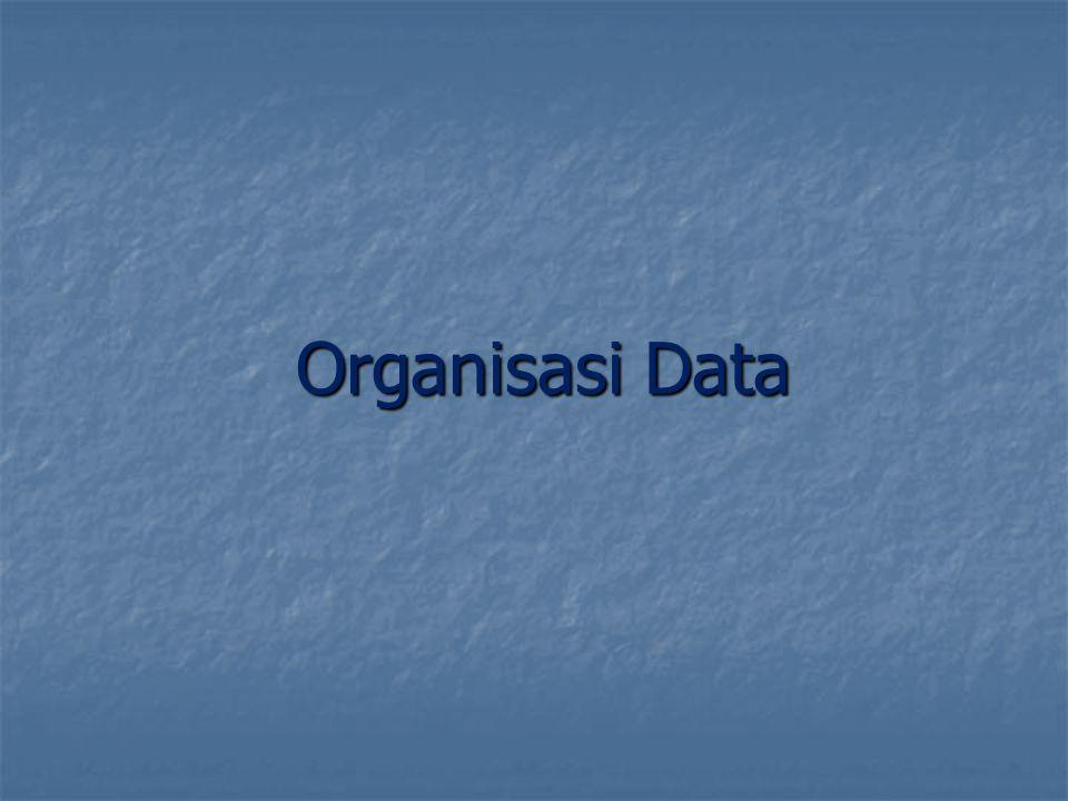 Organisasi Data