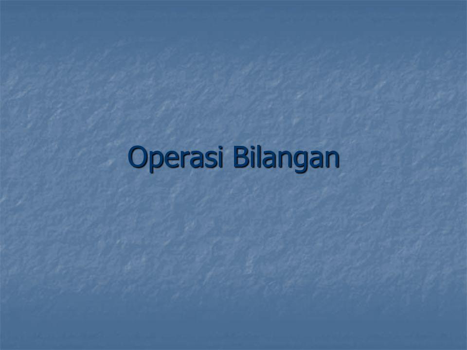 Operasi Bilangan