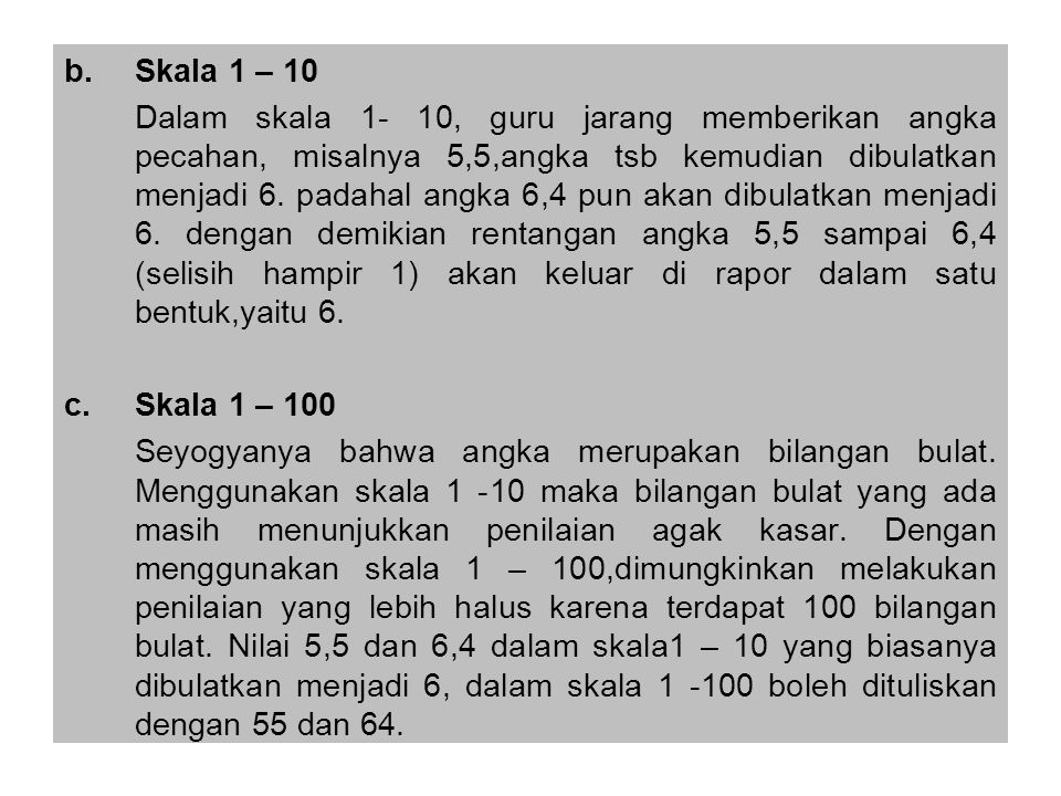 Skala 1 – 10
