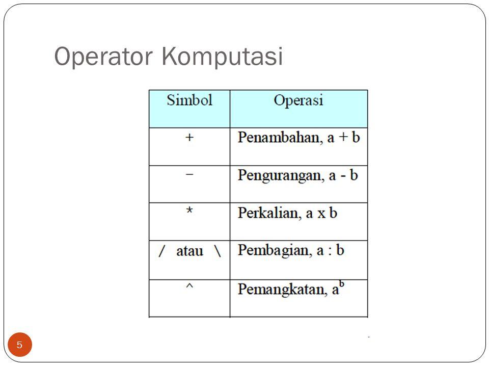 Operator Komputasi