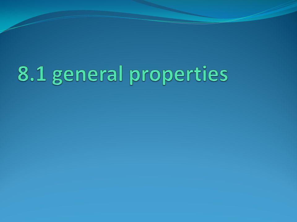 8.1 general properties