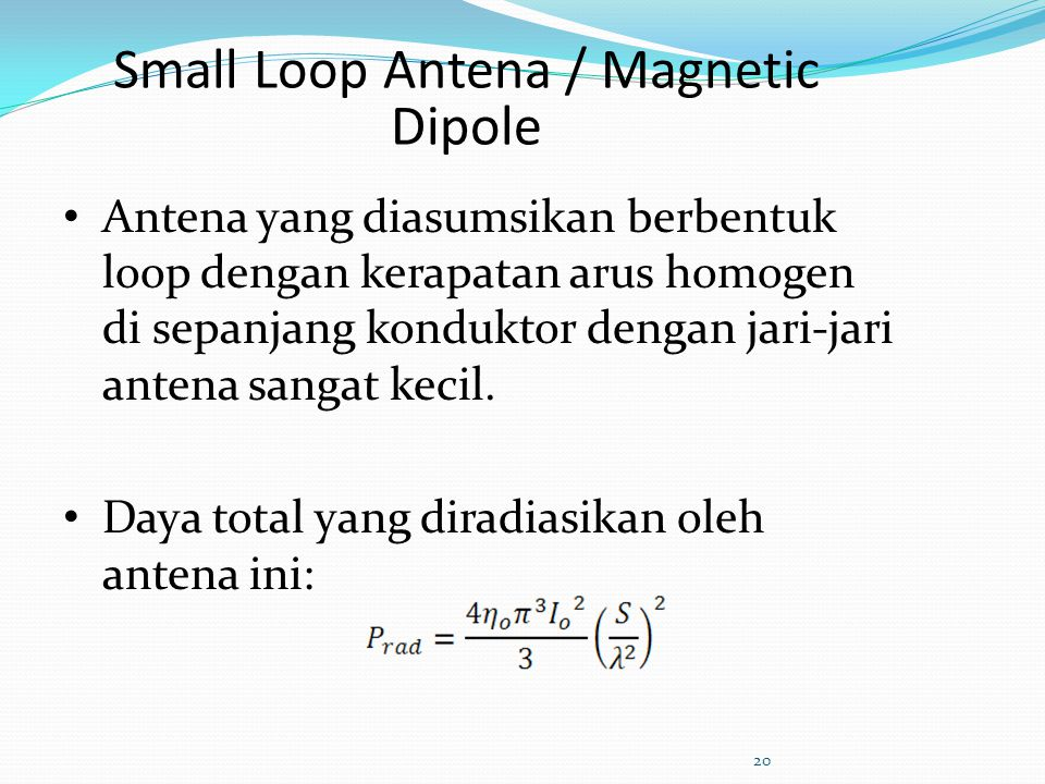 Small Loop Antena / Magnetic Dipole