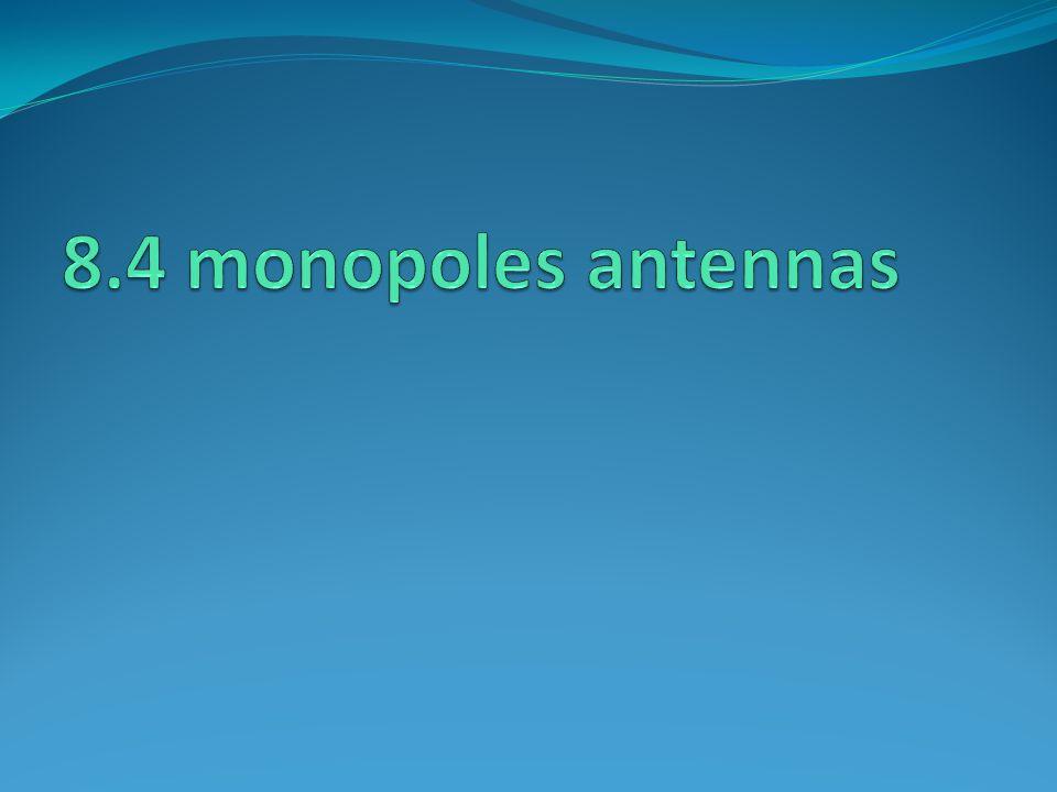 8.4 monopoles antennas