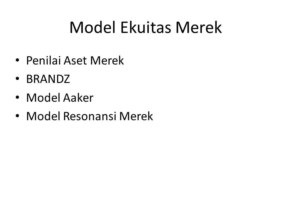 Model Ekuitas Merek Penilai Aset Merek BRANDZ Model Aaker